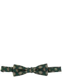 Corbatín de seda estampado verde oscuro de Dolce & Gabbana