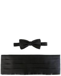 Corbatín de seda negro de Ermenegildo Zegna