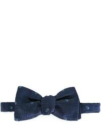 Corbatín de seda tejido azul marino de Alexander McQueen