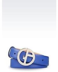 Correa de cuero azul