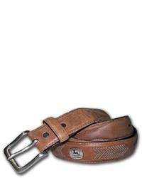 Correa de cuero marrón de John Deere