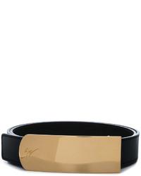 Correa de cuero negra de Giuseppe Zanotti Design