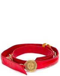 Correa de Cuero Roja de Chanel