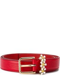 Correa de cuero roja de Dolce & Gabbana