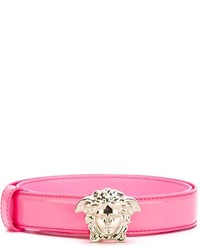 Correa de cuero rosa de Versace
