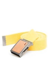 Correa de lona amarilla