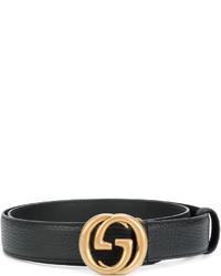 Correa negra de Gucci