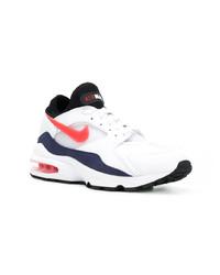Deportivas en blanco y rojo y azul marino de Nike