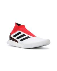 Deportivas en blanco y rojo de adidas