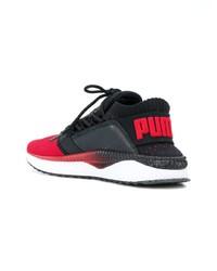 Deportivas en rojo y negro de Puma