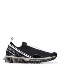 Deportivas estampadas en negro y blanco de Dolce & Gabbana