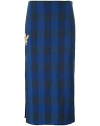 Falda a Cuadros Azul Marino de No.21