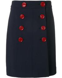 Falda azul marino de Burberry