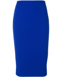 Falda azul de Victoria Beckham