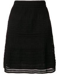 Falda bordada negra de M Missoni