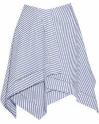 Falda campana de rayas horizontales azul