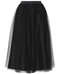 Falda campana de tul negra