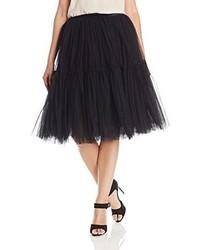 Falda campana de tul negra de Glamorous