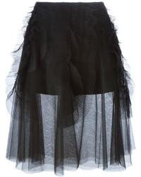 Falda campana de tul negra de Rochas