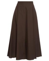 Falda campana en marrón oscuro