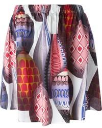 Falda campana estampada en multicolor de MSGM