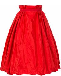 Falda campana roja de Alexander McQueen