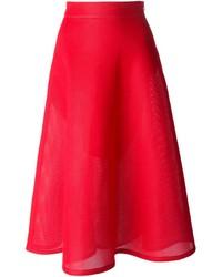 Falda campana roja de DKNY