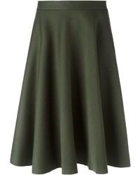 Falda campana verde oliva de P.A.R.O.S.H.
