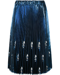 Falda con Adornos Azul Marino de No.21