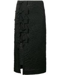 Falda con adornos negra de Fendi