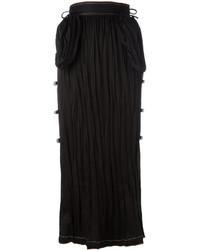 Falda con Adornos Negra de Loewe