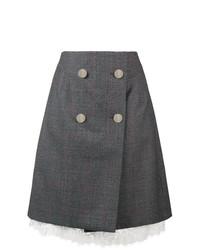 Falda con botones en gris oscuro de Calvin Klein 205W39nyc