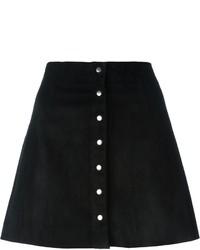 Falda con botones negra de Alexander Wang