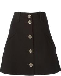 Falda con botones negra de Chloé