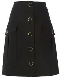 Falda con botones negra de DKNY
