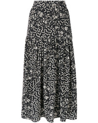 Falda con estampado geométrico negra de Isabel Marant