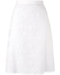 Falda con print de flores blanca de Burberry