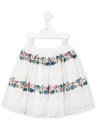 Falda con print de flores blanca de Ermanno Scervino