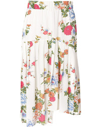 Falda con print de flores blanca de Isabel Marant