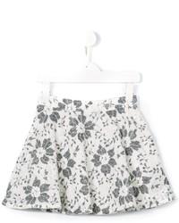 Falda con print de flores blanca de Miss Blumarine