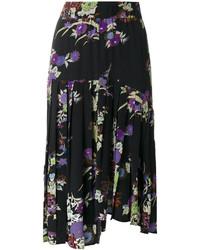 Falda con print de flores negra de Isabel Marant