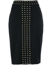 Falda con tachuelas negra de MICHAEL Michael Kors