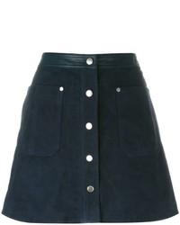Falda de ante azul marino de Rag & Bone
