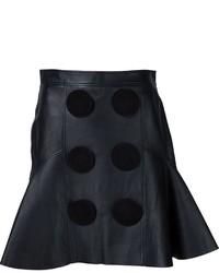 Falda de cuero negra de Givenchy