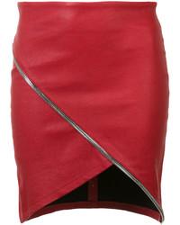 Falda de Cuero Roja de RtA