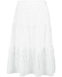 Falda de encaje blanca de Diane von Furstenberg