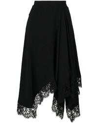 Falda de Encaje Negra de Givenchy
