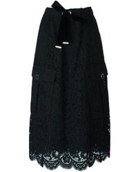 Falda de encaje negra de Twin-Set