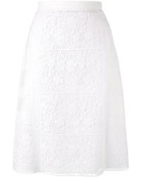 Falda de Flores Blanca de Burberry