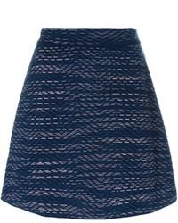Falda de lana azul marino de M Missoni